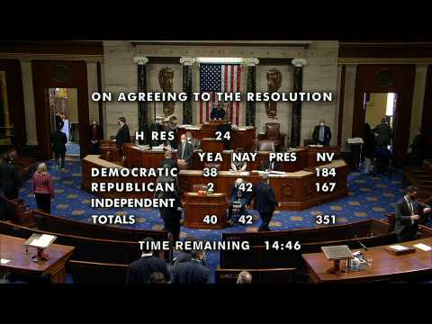 US House begins vote to impeach Trump for a second time