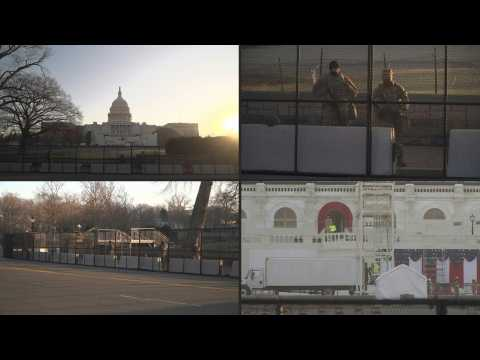 Tight security at US Capitol as inauguration preparations underway