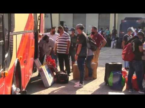 First group of migrant workers from Nicaragua returns home after stranded in Panama during pandemic