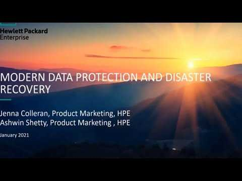 Modern data protection and disaster recovery - HPE and ActualTech Media webinar