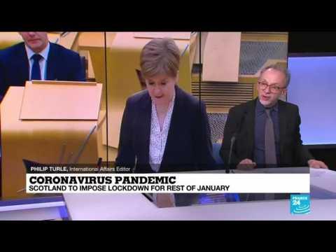 Coronavirus pandemic: Scotland to impose lockdown for rest of January