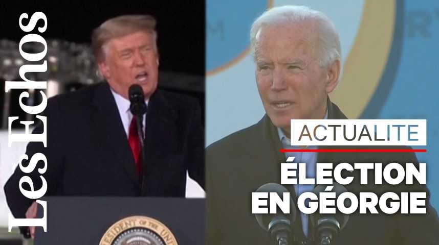 Illustration pour la vidéo Trump et Biden s'invectivent à distance avant une élection clef en Géorgie