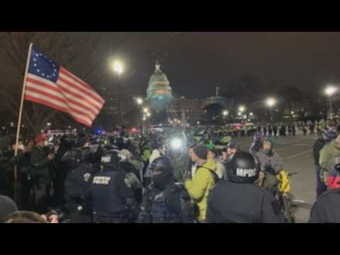 Curfew in place after Trump supporters break into US Capitol