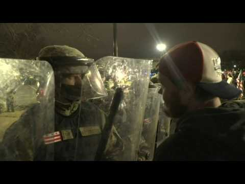 Trump supporters confront National Guard outside Capitol after curfew