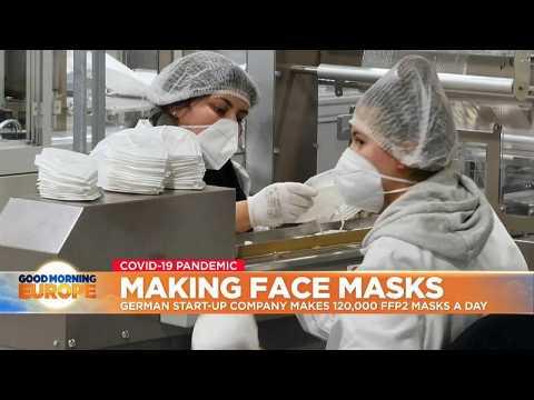 German start-up company makes 120,000 FFP2 masks a day