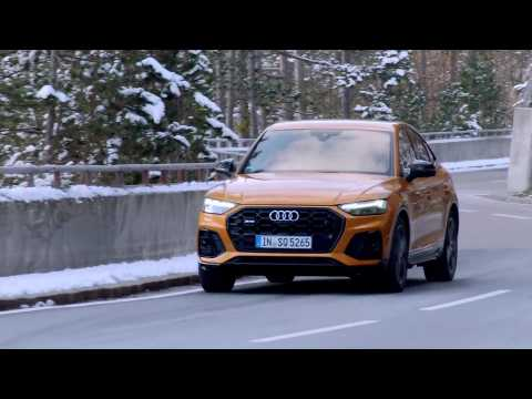 Audi SQ5 Sportback TDI quattro in Dragon orange Driving Video