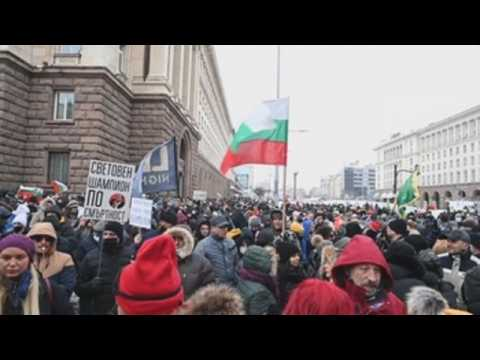 Hospitality sector protests Covid-19 measures in Sofia