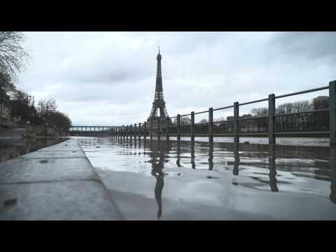 Seine floods Paris's streets after heavy rains
