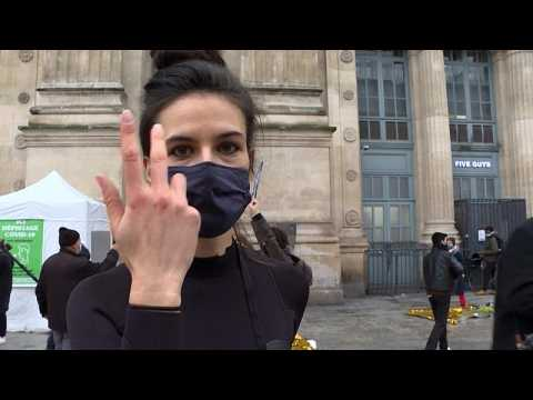Watch: Artists perform in Paris to highlight the 'asphyxiation of culture' amid COVID-19 curfew
