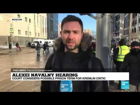 Alexei Navalny hearing: Court considers possible prison term for Kremlin critic