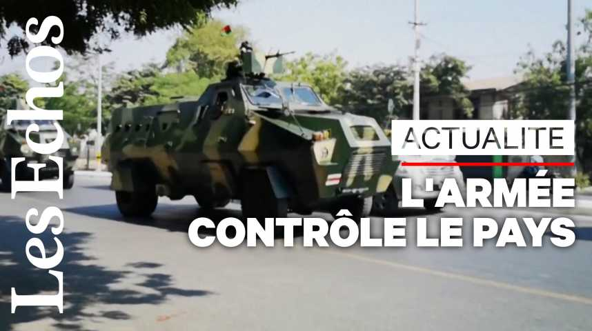 Illustration pour la vidéo Birmanie: l'armée tient fermement le pays au lendemain du coup d'Etat