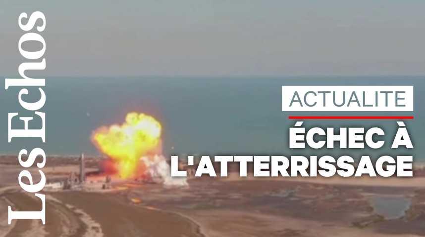 Illustration pour la vidéo Le prototype Starship de SpaceX explose à l'atterrissage lors d'un essai