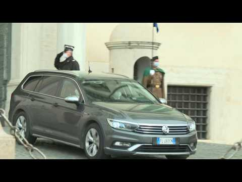 Former ECB head Draghi leaves Italian presidential palace after conditionally agreed to form new government