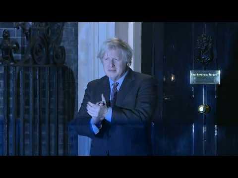 British PM Johnson leads national clap in memory of UK lockdown hero