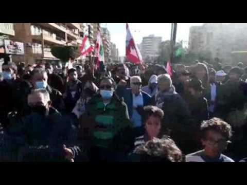 Anti-Covid-19 measures protest  in Lebanon ends with clash between protesters and authorities