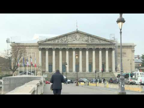 Flags at half-mast at France's National Assembly in memory of Giscard d'Estaing