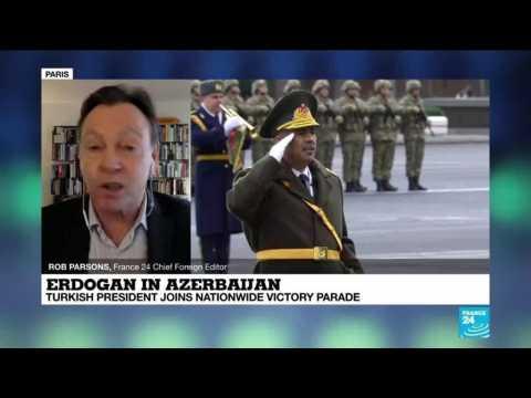 Erdogan in Azerbaijan: Turkish leader joins nationwide victory parade