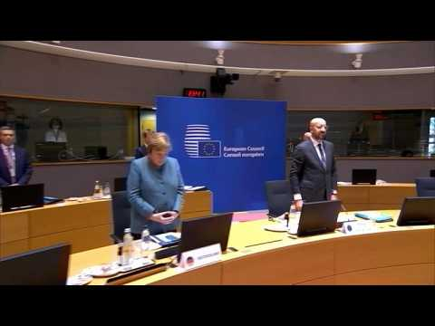 EU leaders observe minute's silence to honour late French president Valery Giscard d'Estaing