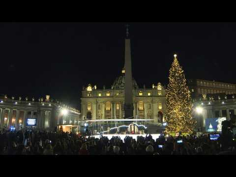 Vatican lights up Christmas tree on St. Peter's square