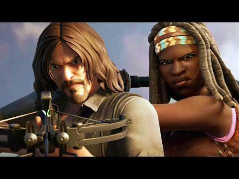 """FORTNITE """"The Walking Dead"""" Trailer 4K (2020) Michonne, Daryl"""