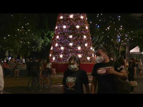 Christmas parks cheer up coronavirus-weary Filipinos