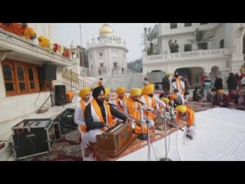 Sikhs celebrates birth anniversary of the tenth Sikh Guru in northern India