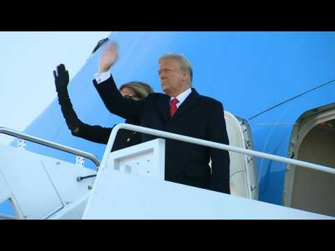 Donald Trump leaves White House for last time