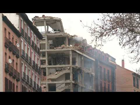 Strong explosion rocks building in central Madrid, at least two dead