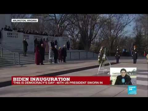 Joe Biden sworn in as US 46th President with a divided American society