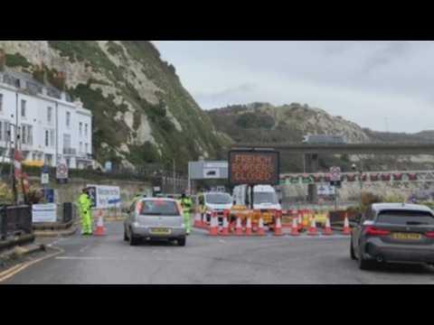 Hundreds of truckers still stranded amid UK-France border closure