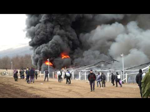 Refugee camp burned down as Bosnia struggles to house migrants