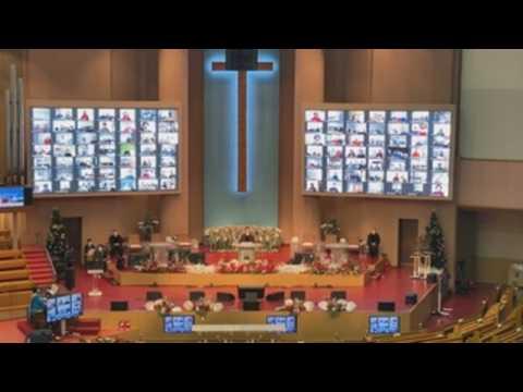 Online Christmas mass in Seoul amid coronavirus pandemic