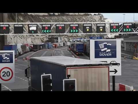 Frustration among the thousands of truckers still stranded around Dover
