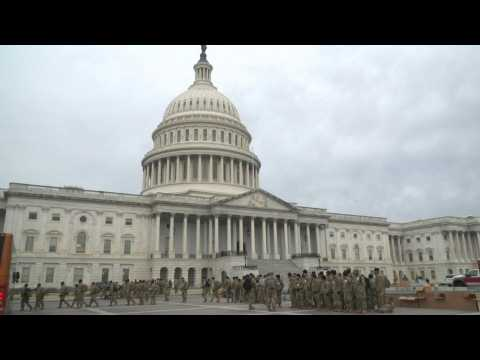 Tight security, including the National Guard at the US Capitol