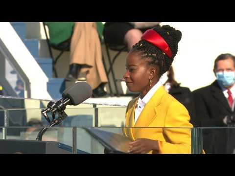 Poet Amanda Gorman becomes sudden star after Biden inauguration