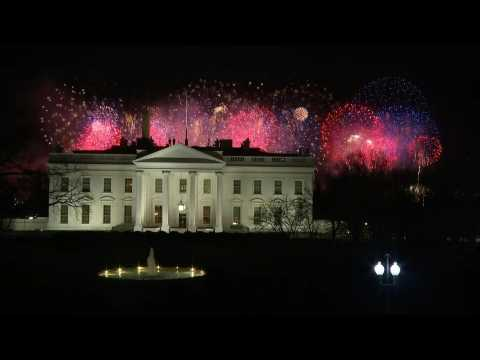 Fireworks light up Washington at the end of Biden's inauguration day