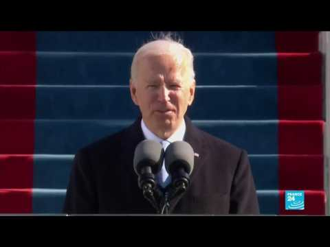 Joe Biden and Kamala Harris call for healing, unity during US inauguration speeches