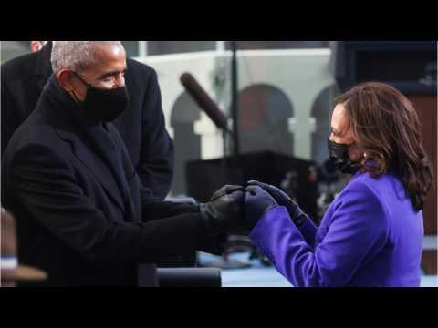 Striking Photo, Obama Greeting Harris: Inauguration