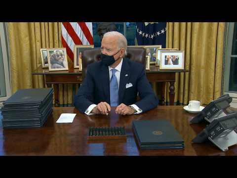 Biden says Trump wrote him 'very generous letter'