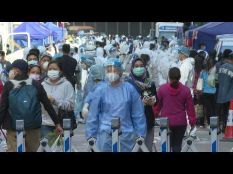 Hong Kong district enters two-day virus lockdown