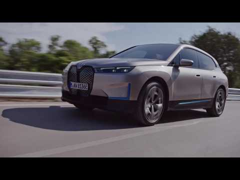 The BMW iX in Sand Gold Driving Video