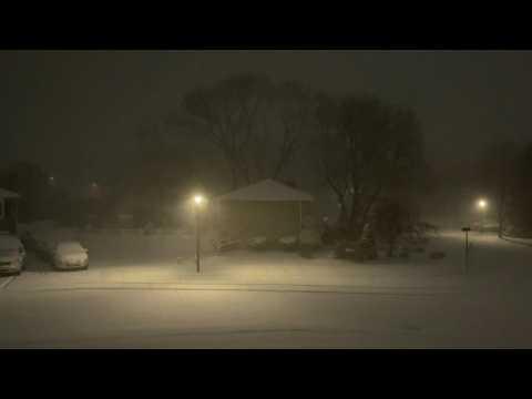 Heavy snowfall in Boston as major winter storm hits US east coast