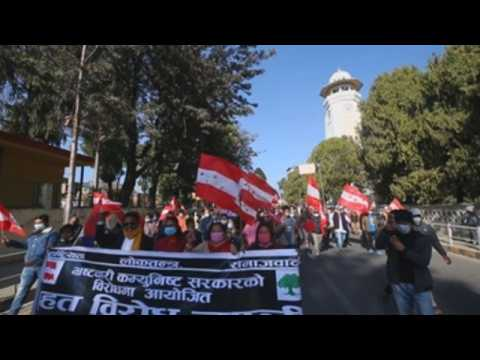 Thousands take to the streets in Nepal in anti-government protest
