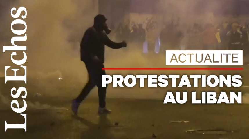 Illustration pour la vidéo Au Liban, plus de 220 blessés dans de nouveaux heurts entre manifestants et policiers