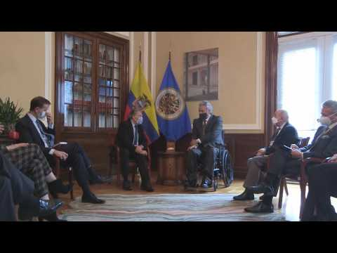 The President of Ecuador meets with the Secretary-General of the OAS