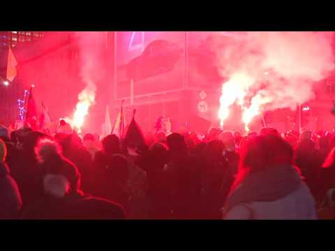 Thousands rally in Warsaw for third night over near-total abortion ban